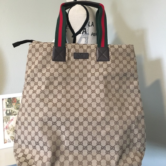 2486c246c4ee Bags | Gucci Canvas Tote 131233 Travel Business Bag | Poshmark